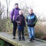 Susanne, Nicklas og Tobias på broen