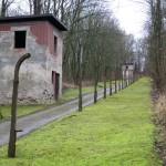 Buchenwald vagttårne og betonpæle til pigtråd